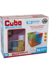 Cubo Mágico 7 Piezas Magnético 6x6 cm.