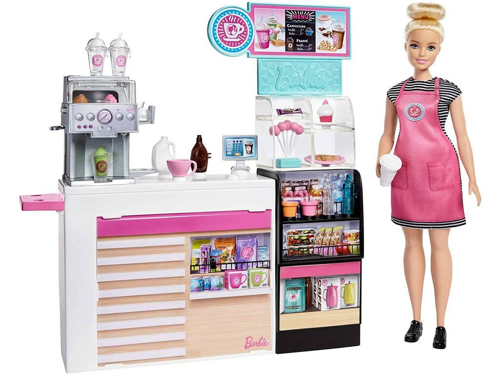 Barbie Cafetería con Accesorios Mattel GMW03
