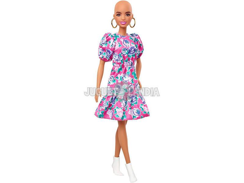 Barbie Fashionistas Vestido Rosa Flores Mattel GHW64