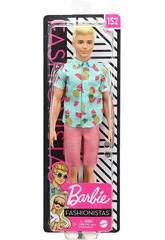 Barbie Ken Fashionista Camisa Frutas Mattel GHW68