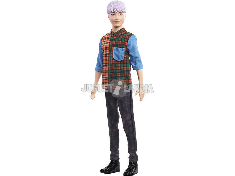 Barbie Ken Fashionista Pelo Lila Mattel GHW70