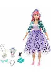 Barbie Princess Adventure com Animal de Estimação e Acessórios Mattel GML77