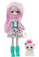 Enchantimals Poupée Sybill Snow Leopard et Flake Mattel GJX42
