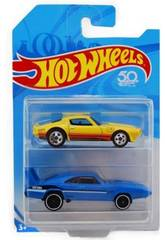 Hot Wheels Pack 2 Vehículos Mattel FVN40