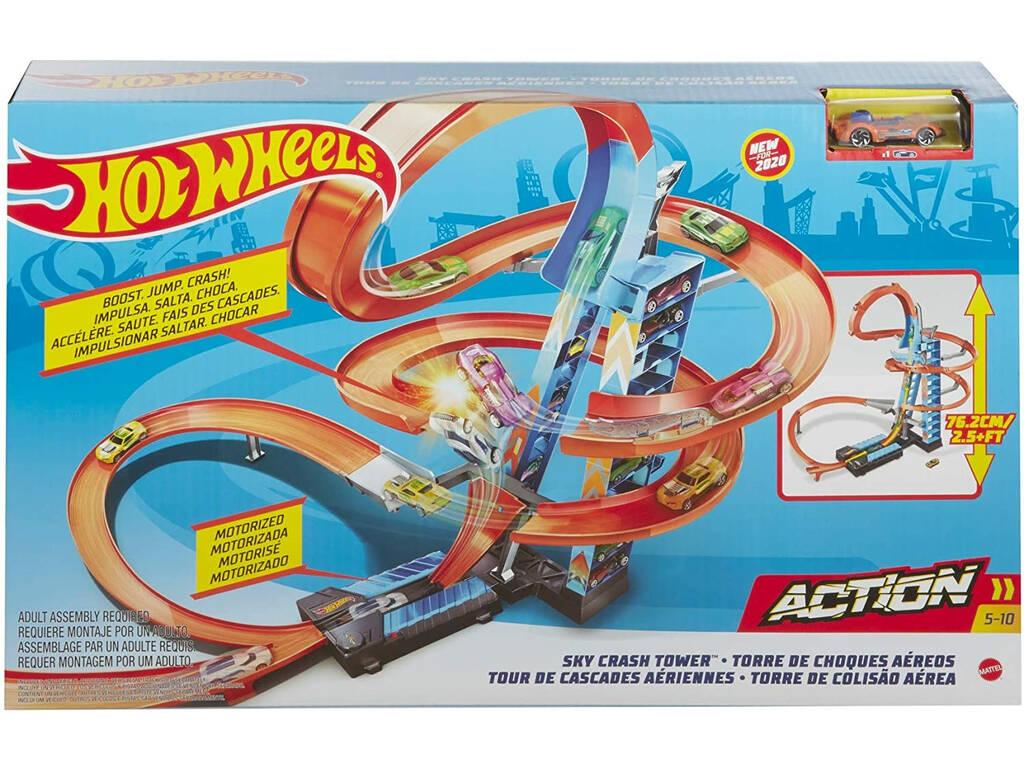 Hot Wheels Torre de Choques en el Aire Mattel GJM76