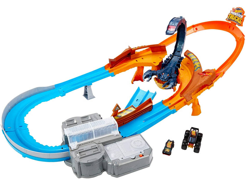 Hot Wheels Monster Trucks Pista Ataque del Escorpión Mattel GNB05