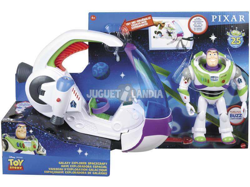 Toy Story Buzz Lightyear con Nave Espacial de Explorador Galáctico Mattel GWY61