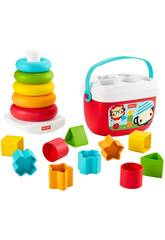 Fisher Price Pack Eco Pirámides y Bloques Mattel GRF11