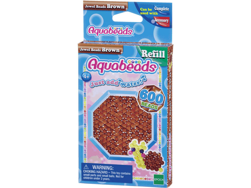 Aquabeads Pack Abalorios Joya Marrón Epoch Para Imaginar 32738