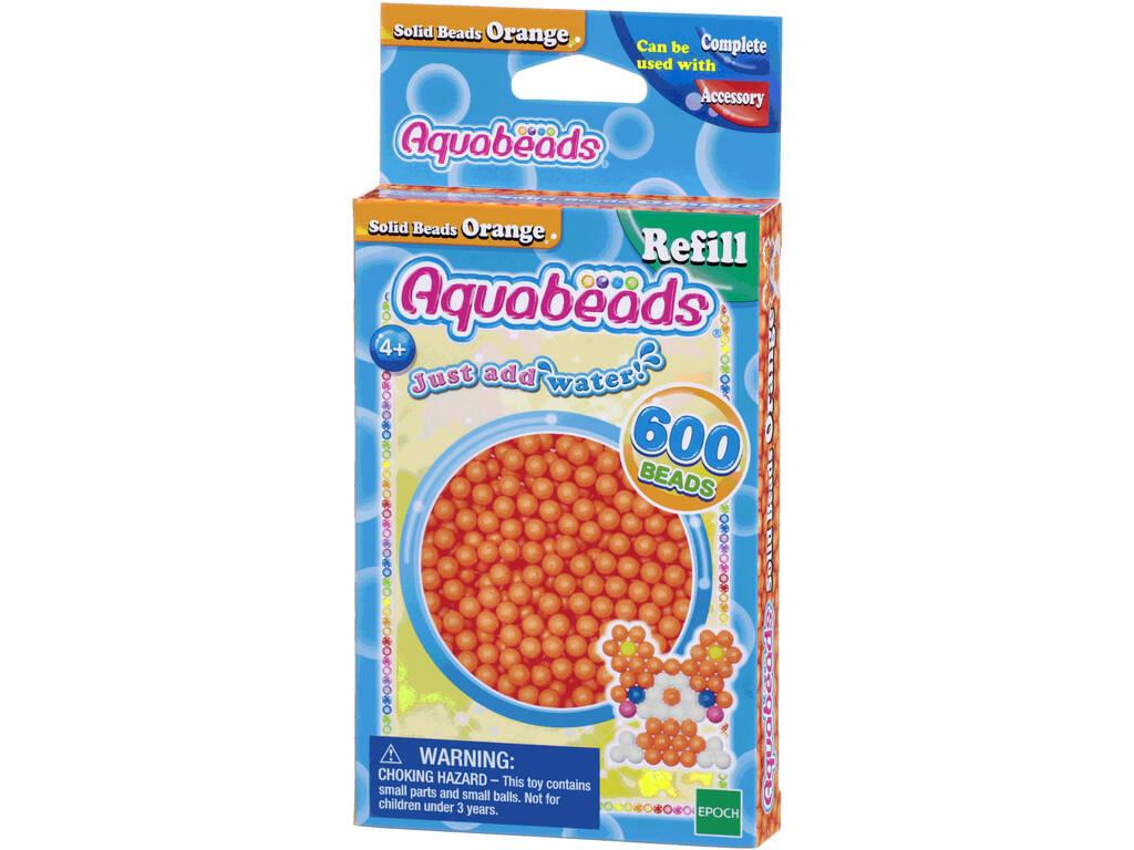 Aquabeads Pack Abalorios Sólidos Naranja Epoch Para Imaginar 32518
