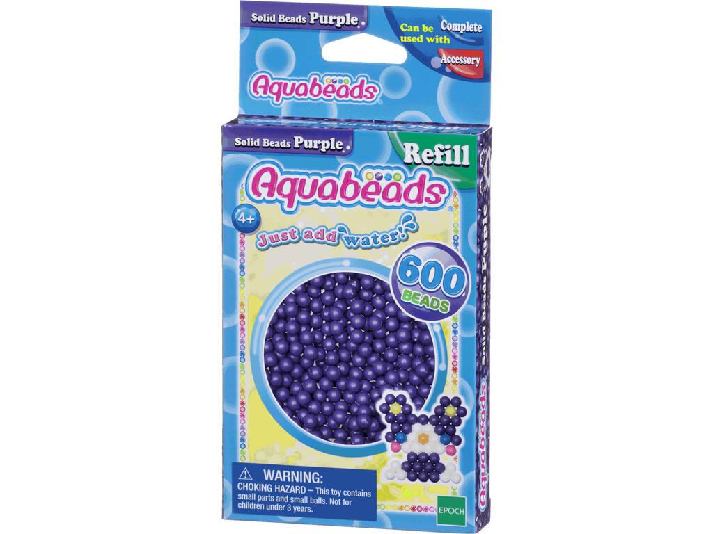 Aquabeads Pack Abalorios Sólidos Morado Epoch Para Imaginar 32578