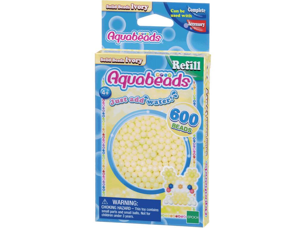 Aquabeads Pack Abalorios Sólidos Blanco Marfil Epoch Para Imaginar 32628