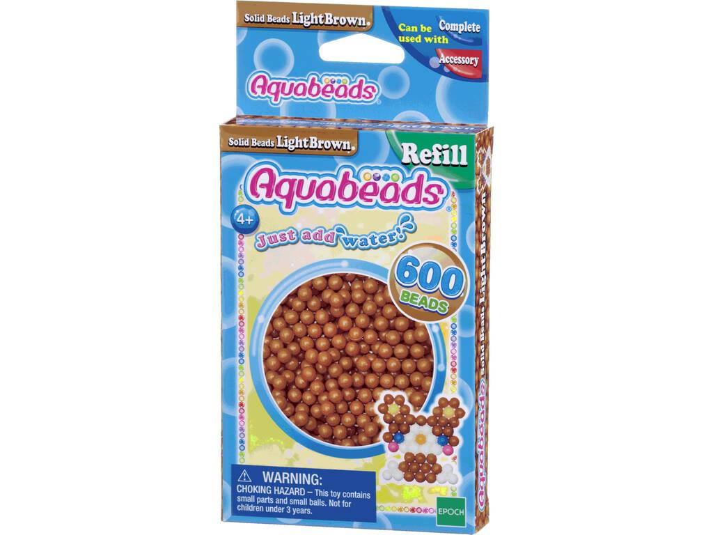Aquabeads Pack Abalorios Sólidos Marrón Claro Epoch Para Imaginar 32608