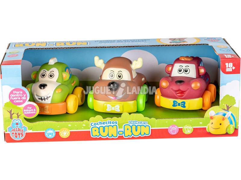 Animalitos del Bosque Run-Run Set 3 Coches