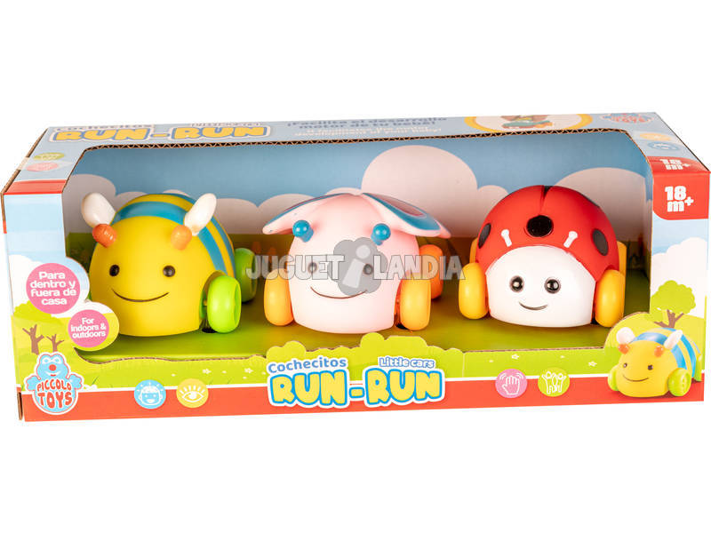 Bichos Run-Run Set 3 Coches