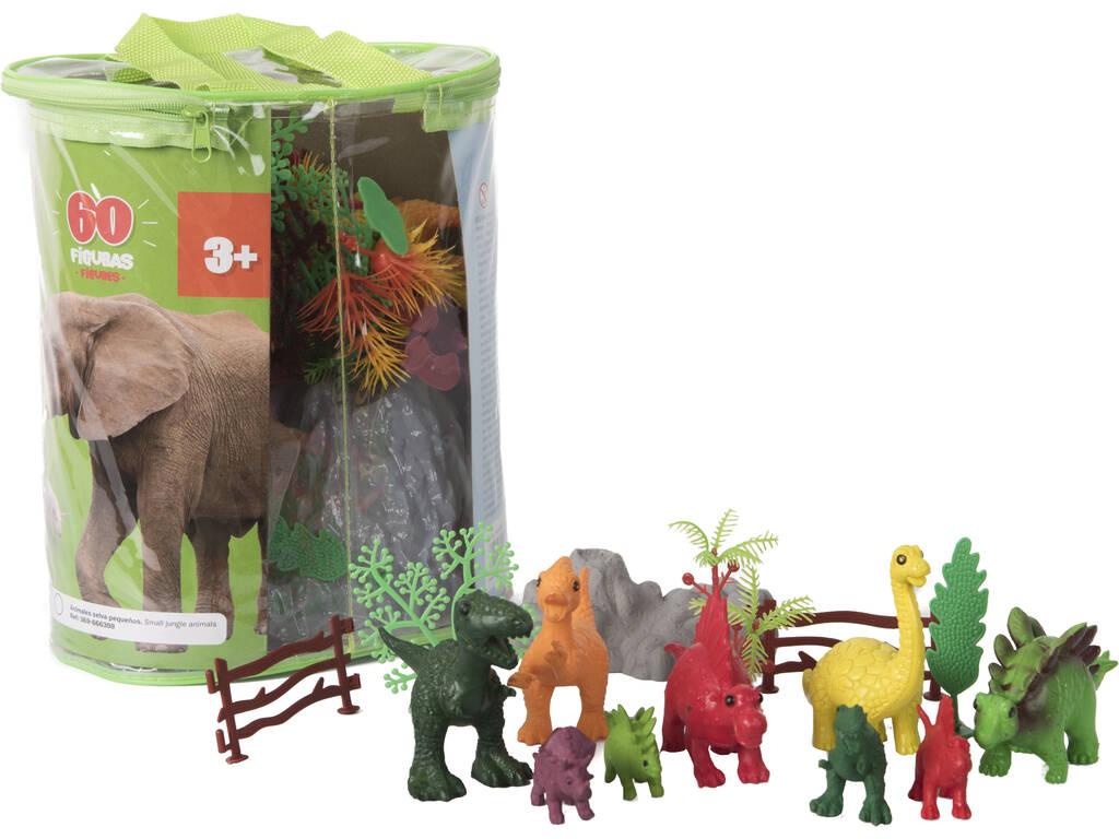Dinosaurios Mundo Animal 60 Piezas