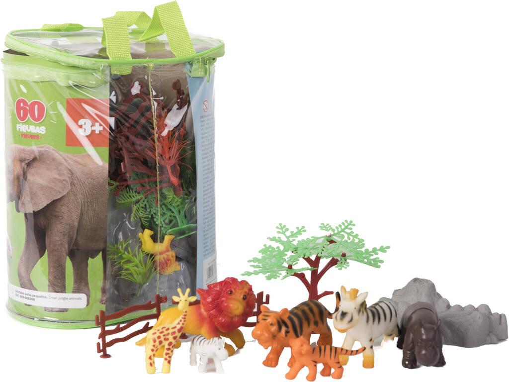 Animales Selva Mundo Animal 60 Piezas