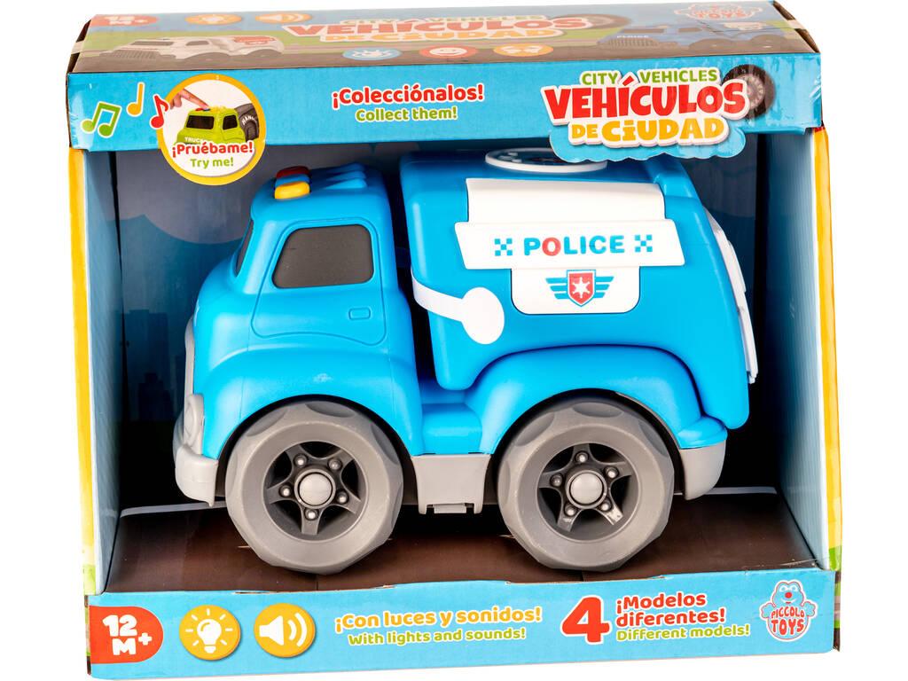Vehículo de Ciudad Policía con Luces y Sonidos