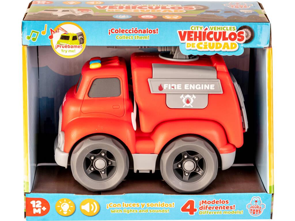 Vehículo de Ciudad Camión de Bomberos con Luces y Sonidos