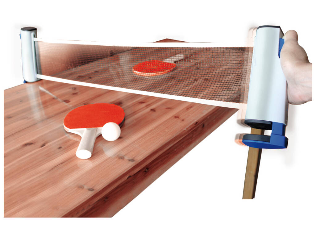 Set Ping Pong con 2 Palas, 3 Pelotas y Red Extensible