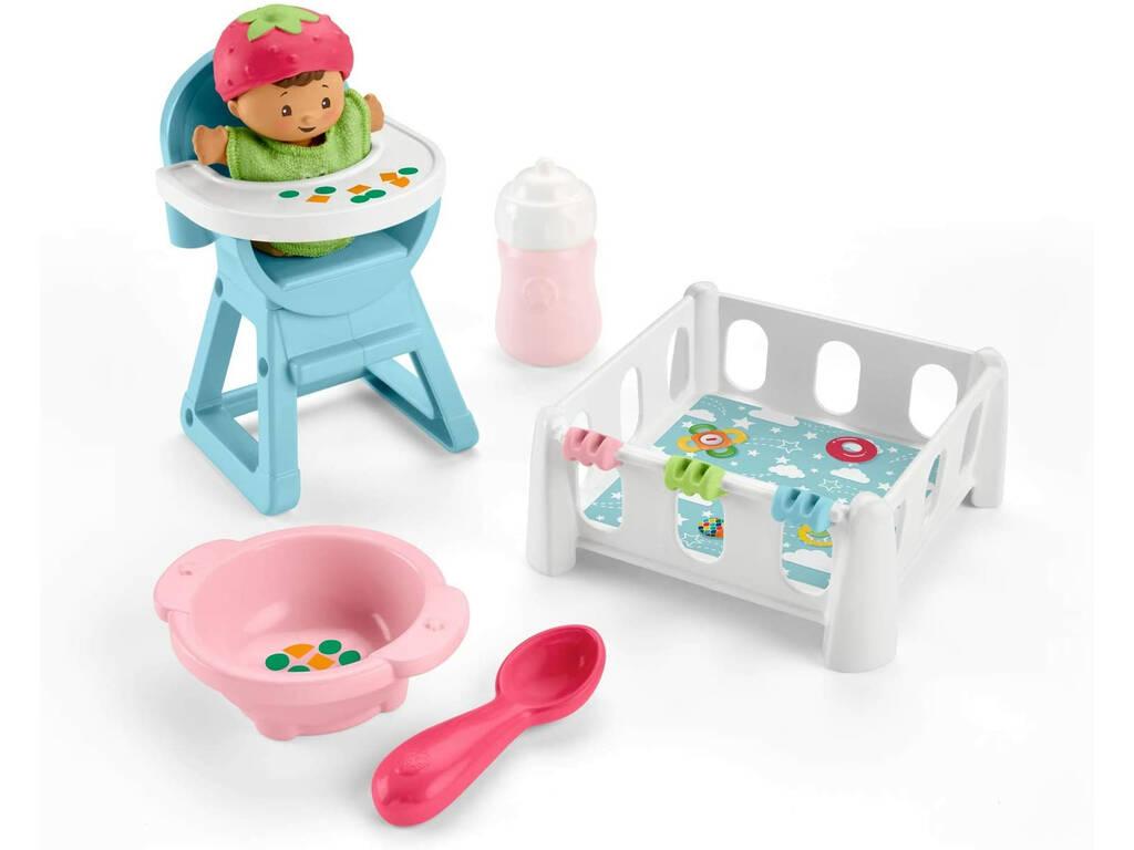 Little People Conjunto Bebés Comer y Dormir Mattel GKP65