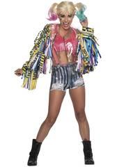 Costume Donna Harley Quinn Birds of Pray S Rubies 701811-S