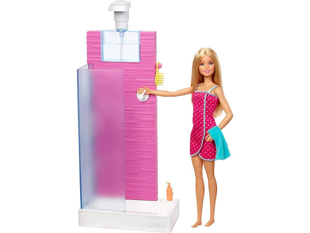 Barbie Mobiliario Ducha Mattel FXG51