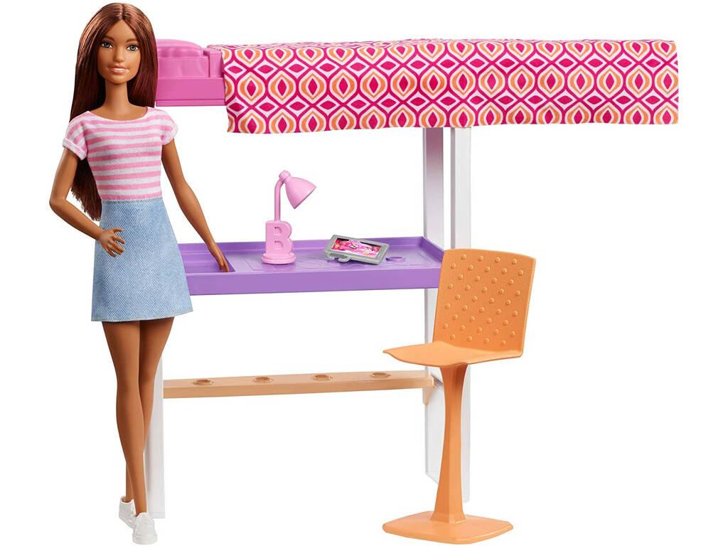 Barbie Mobiliario Dormitorio Mattel FXG52