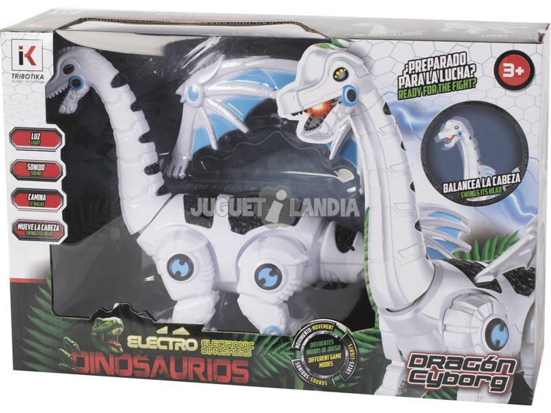 Dragón Cyborg Caminante con Luz y Sonidos