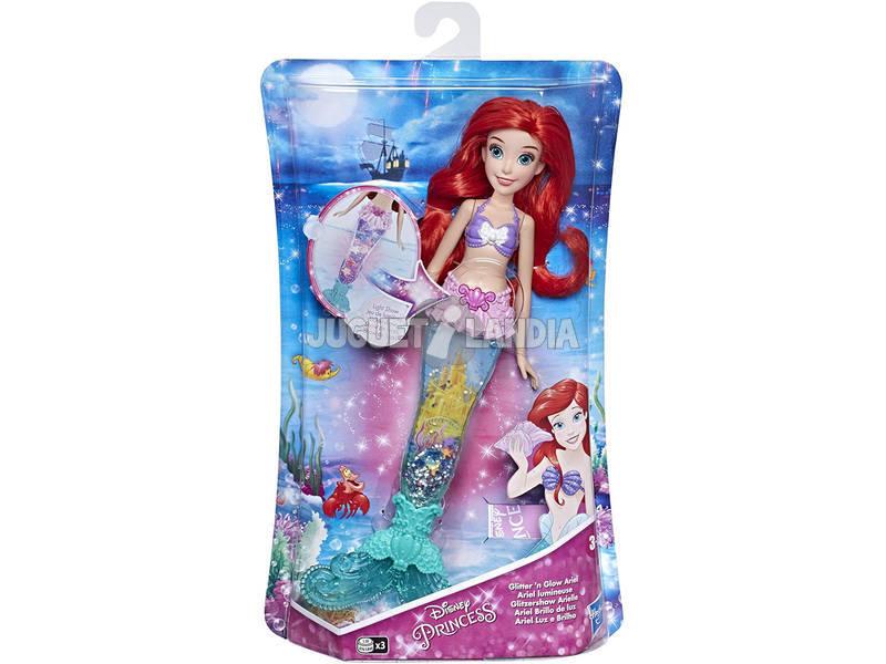 Muñeca Princesas Disney Ariel Brillo de Luz Hasbro E6387