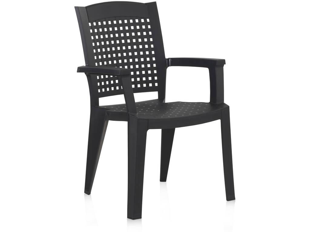 Muebles Jardín Silla Metal Antracita SP Berner 55117