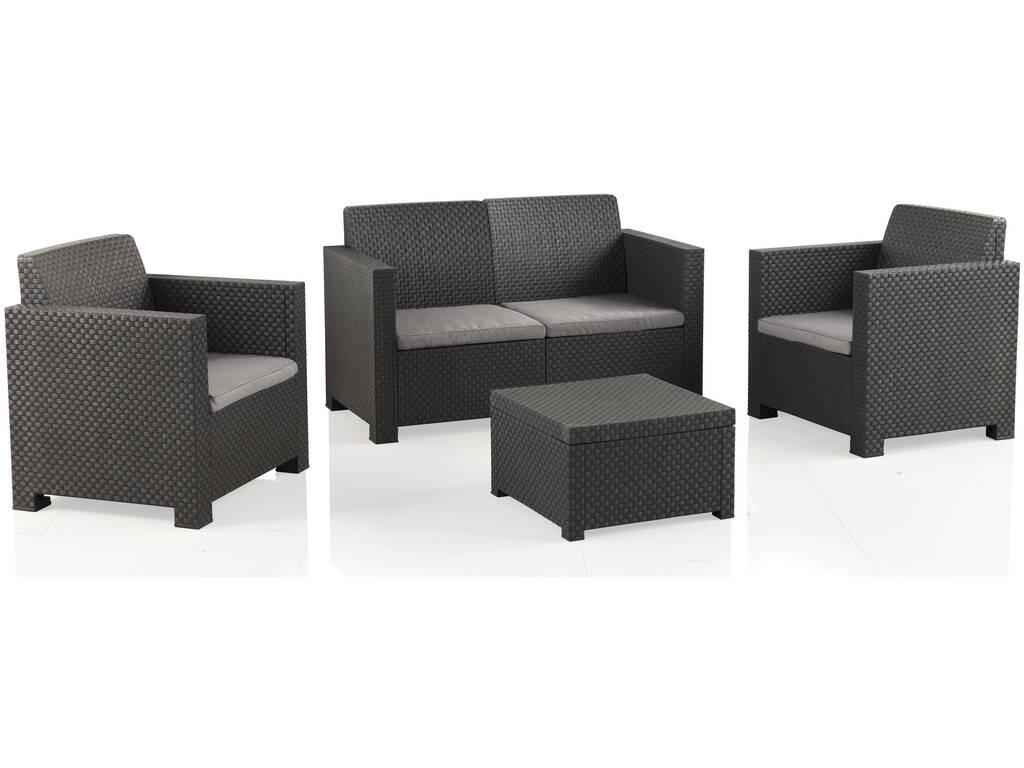 Muebles Jardín Set Evo Confort Antracita SP Berner 55404