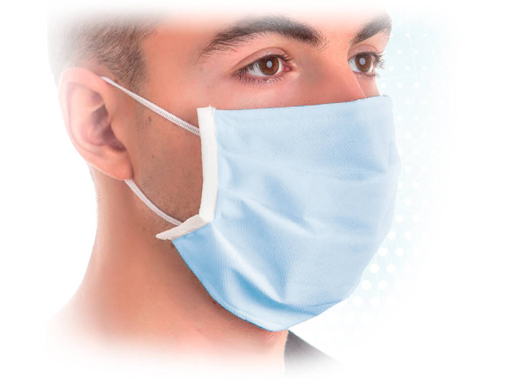 Mascarilla Higienica Protectora 3 Filtros Azul Kamabu 80002