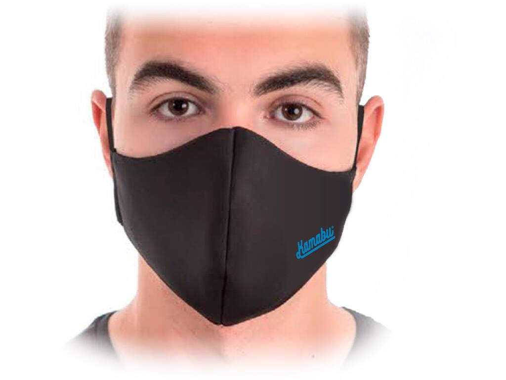 Masque Hygiénique Néoprène Noir Élastiques Kamabu 80026