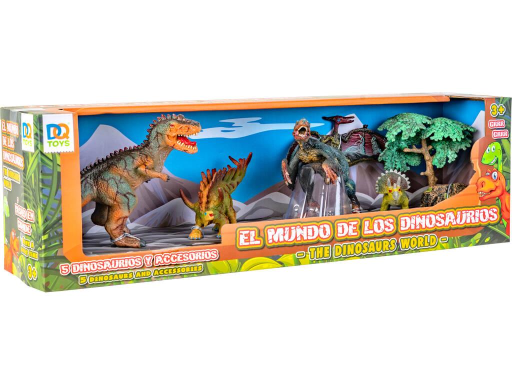 Dinosaurios Set 5 Unidades con 2 Accesorios Pterosaurio