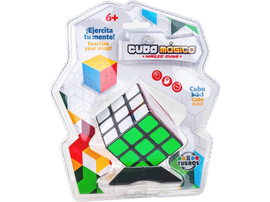 Cubo Mágico 3x3x3 con Peana