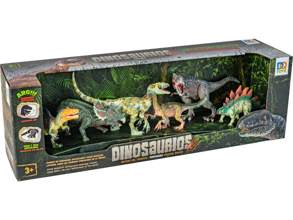 Set 6 Dinosaurios con Espinosaurio