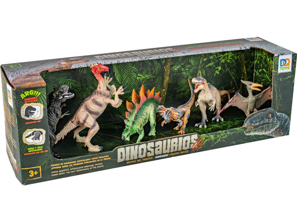 Set 6 Dinosaurios con Pteranodon