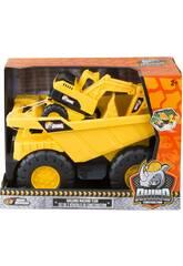 Rhino Construction Camión Volquete con Excavadora Nikko 30111