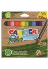 Pack Rotulador Eco Jumbo 12 Colores Carioca 43101