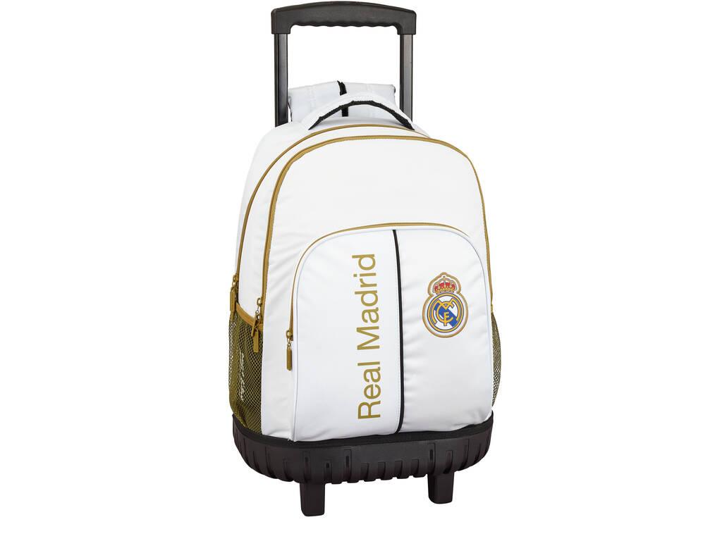 Mochila Grande con Ruedas Compact Real Madrid 1ª Equipación 19/20 Safta 611954818