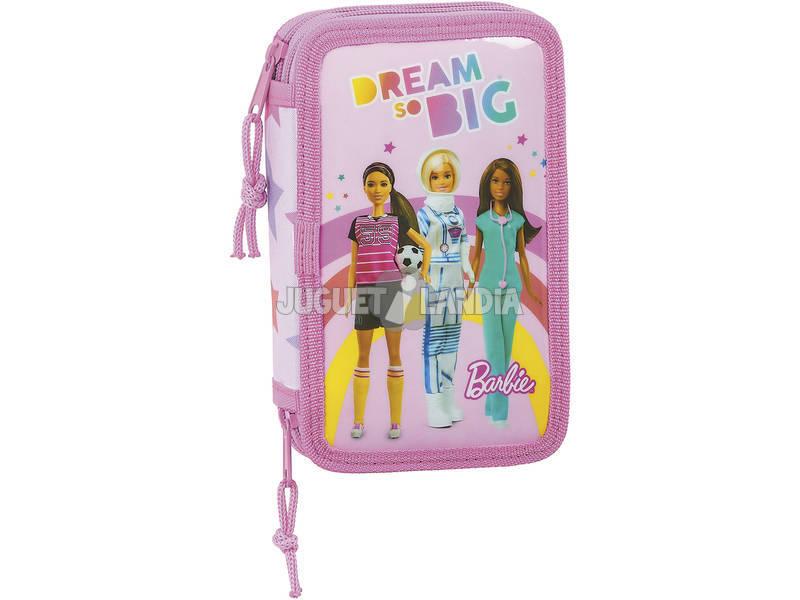 Plumier Doble 28 Piezas Barbie Dreamer Safta 412010854