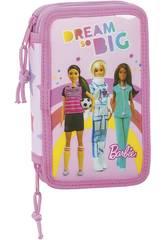 Plumier Double 28 Pièces Barbie Dreamer Safta 412010854