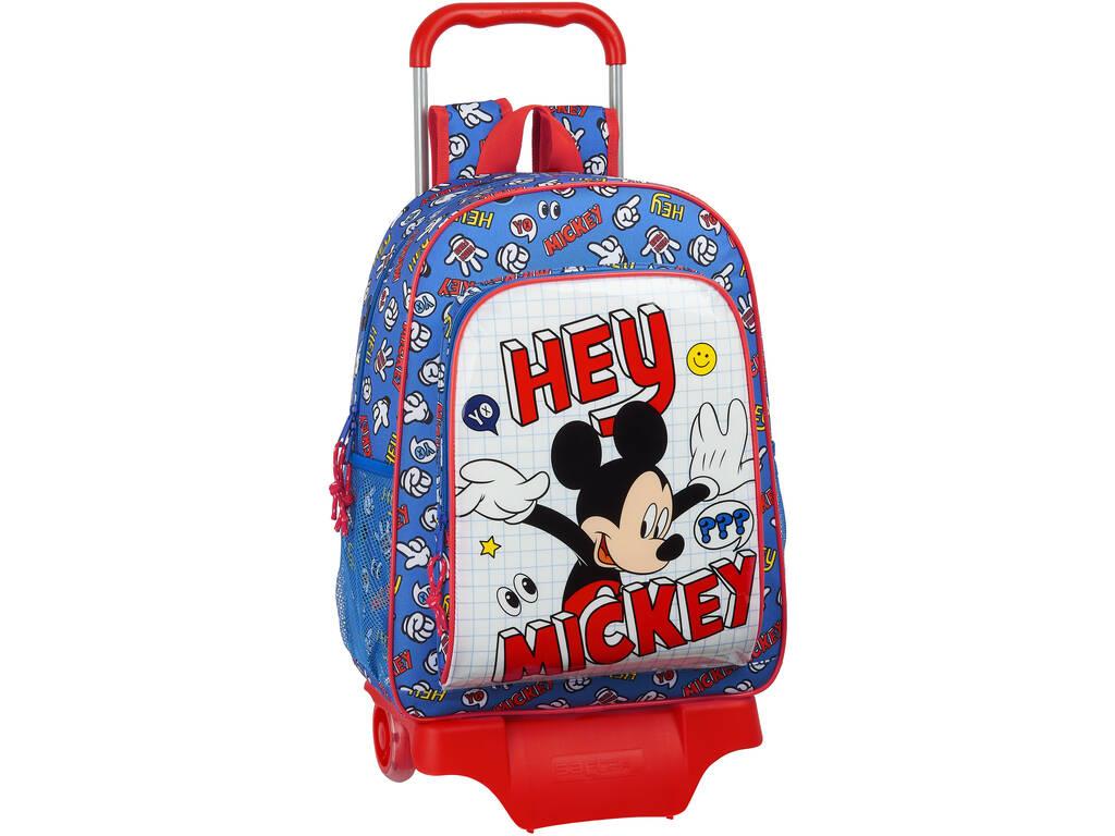 Mochila con Carro Mickey Mouse Safta 612014313