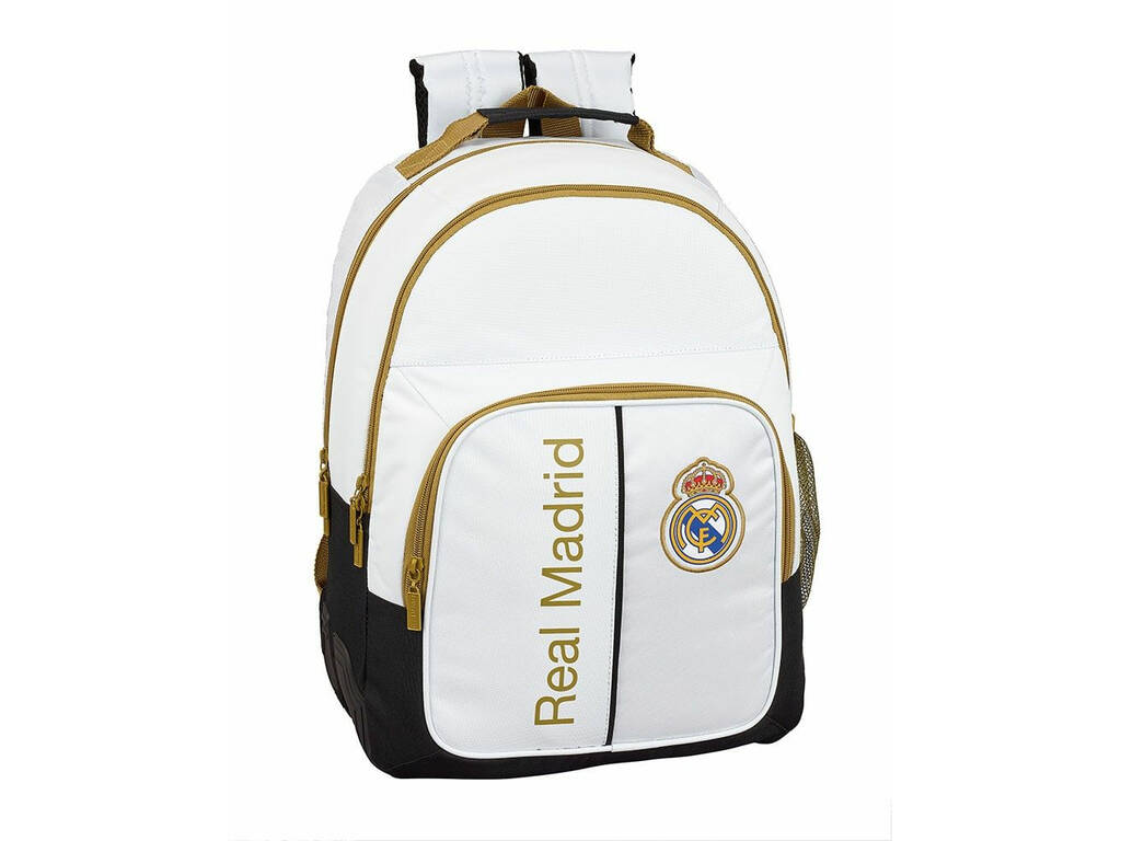 Mochila Doble Real Madrid 1ª Equipación 19/20 Adaptable a Carro Safta 611954773