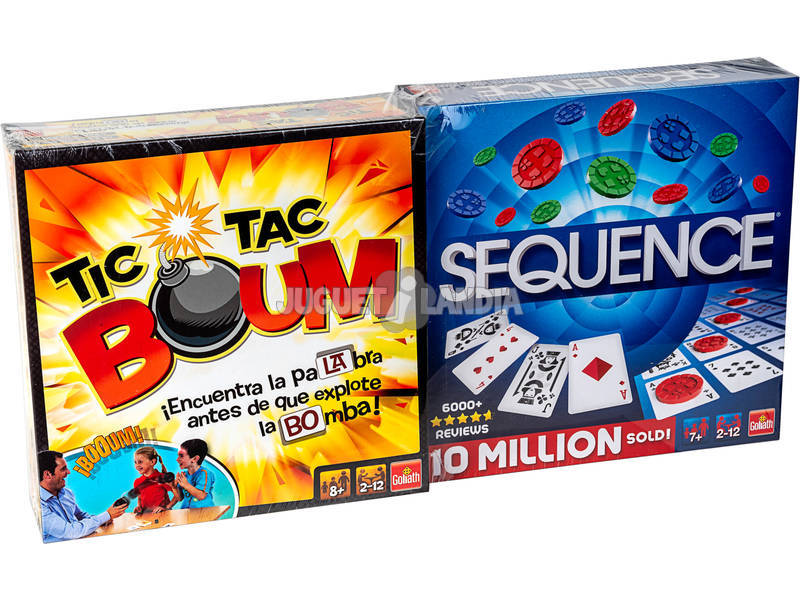 Pack Juegos Tic Tac Boum + Sequence Goliath 914531