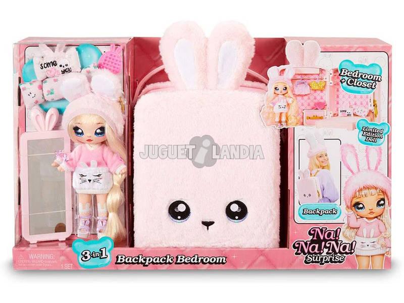 Na! Na! Na! Surprise Mochila Con Muñeca Exclusiva Color Rosa Giochi Preziosi NAA04110