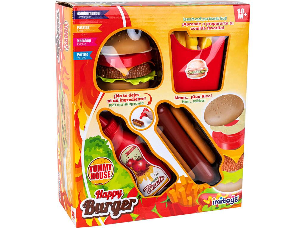 Happy Burger Set 4 Piezas
