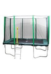 Trampolino Premium 305x215 cm. con Rete e Scala Masgames MA302242