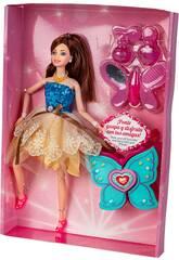 Muñeca Lucy Maniquí 30 cm. con Accesorios Corpiño Azul
